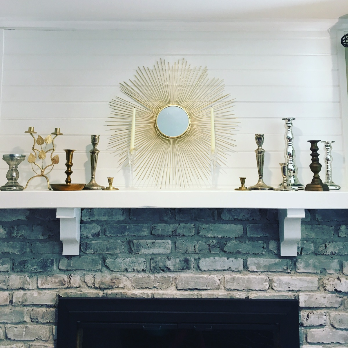 DIY Shiplap Over Mantle